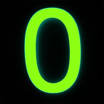 Picture of GLOW IN THE DARK NUMERAL 0